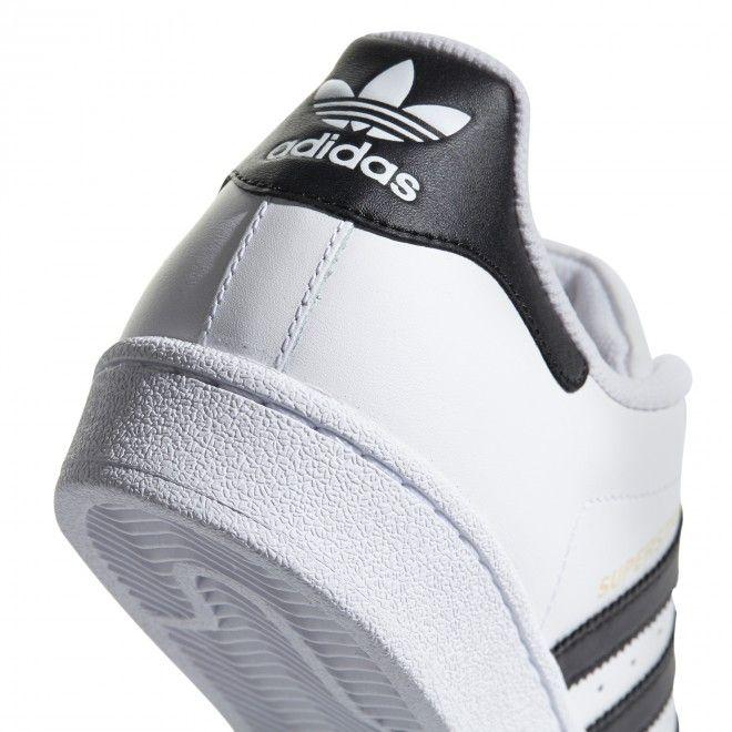 Sapatilhas Adidas Superstar Masculino Branco Pele Sintética C77124