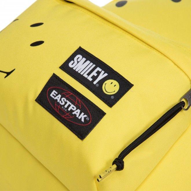 Mochila Eastpak Padded Smiley Big Unissexo Amarelo Poliéster Ek620A92
