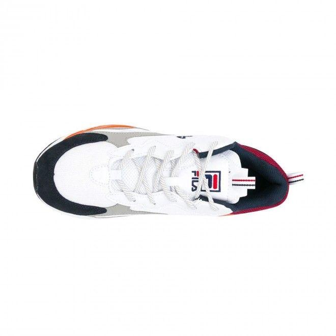 Sapatilhas Fila Ray Racer Masculino Branco Malha e Pele 101068591D