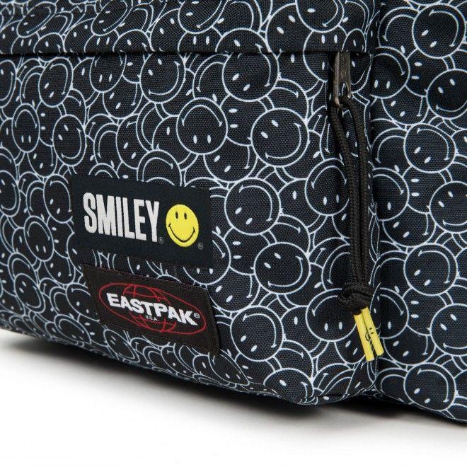 Mochila Eastpak Padded Smiley Mini Unissexo Preto Poliéster Ek620A94