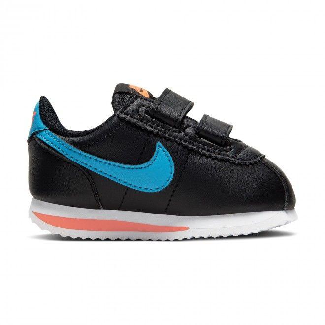 Sapatilhas Nike Infantil Cortez Basic Unissexo Preto Couro 904769-006