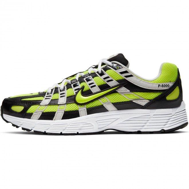 Sapatilhas Nike P-6000 Masculino Preto Couro Cd6404-007