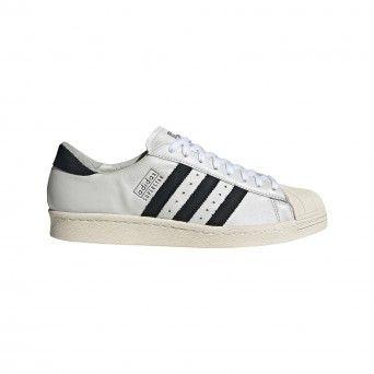 Sapatilhas Adidas Superstar 80S Masculino Couro Branco EE7396