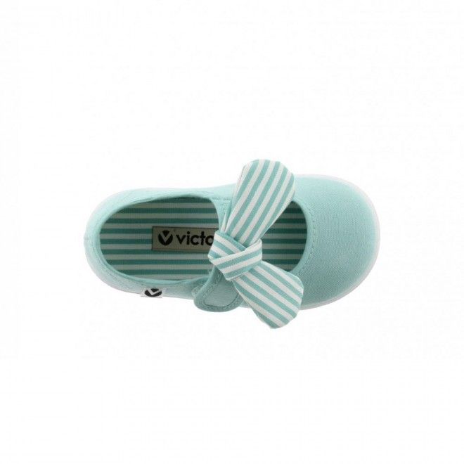 Sapato Victoria Laço Mint Criança Verde Lona 105110