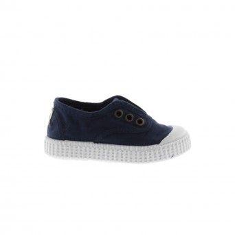 Sapatilhas Victoria Elástico Azul Marinho Infantil | Unissexo Lona 106627