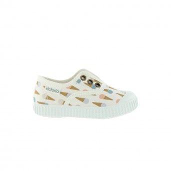Sapatilhas Victoria Elástico Gelado Criança Branco Lona 1366120