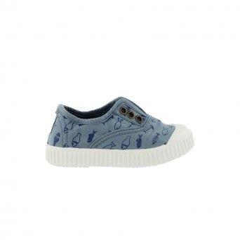 Sapatilhas Victoria Elástico Peixe Criança Azul Algodão 1366107