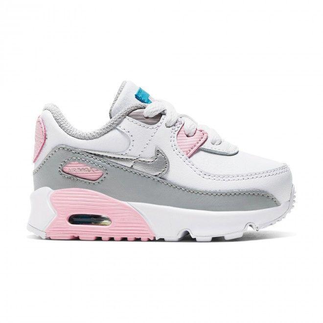 Sapatilhas Nike Air Max 90 Ltr Td Branco Infantil Feminino Couro CD6868-004