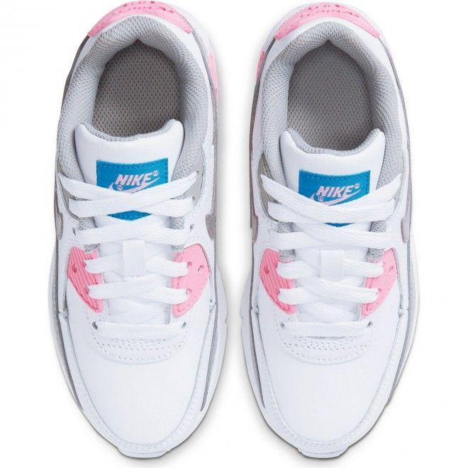 Sapatilhas Nike Air Max 90 Ltr Ps Couro Criança | Feminino Branco CD6867-004