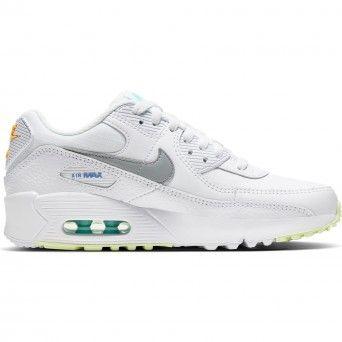 Sapatilhas Nike Air Max 90 Gs Unissexo Branco Pele Cz5868-100