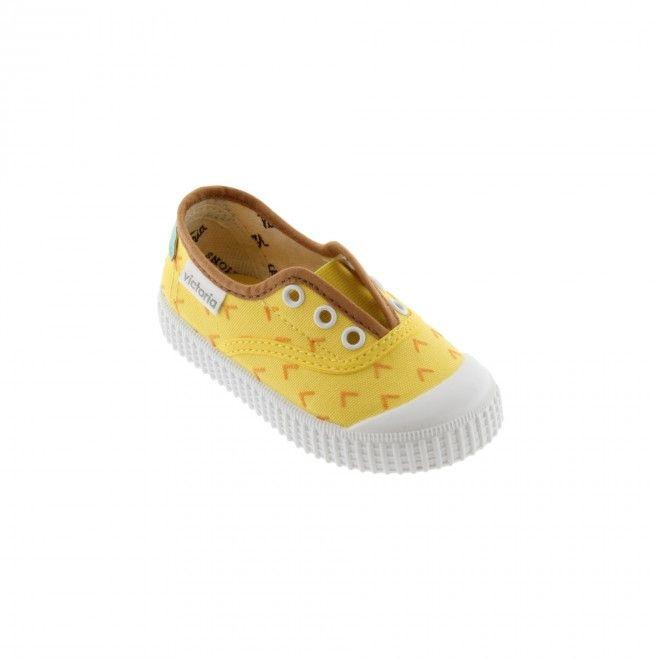 Sapatilhas Victoria Elástico Fruta Criança Amarelo Lona