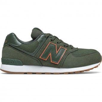 Sapatilhas New Balance 574 Unissexo Verde Couro Nobuk Gc574Pgo