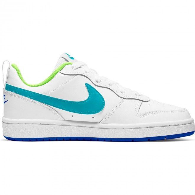 Sapatilhas Nike Court Borough Low Unissexo Branco Couro Bq5448-105