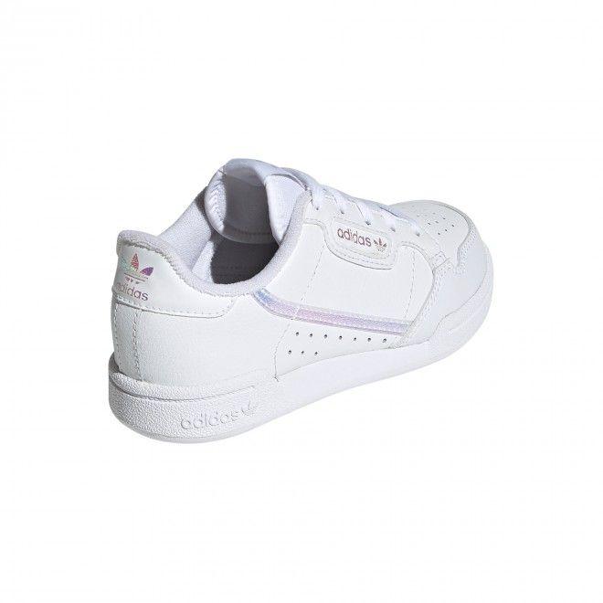 Sapatilhas Adidas Continental 80 C Criança Branco Pele Sintética Fu6668
