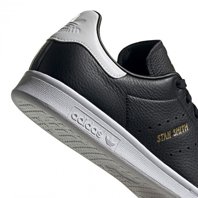 Sapatilhas Adidas Stan Smith Unissexo Preto Couro Eh1476