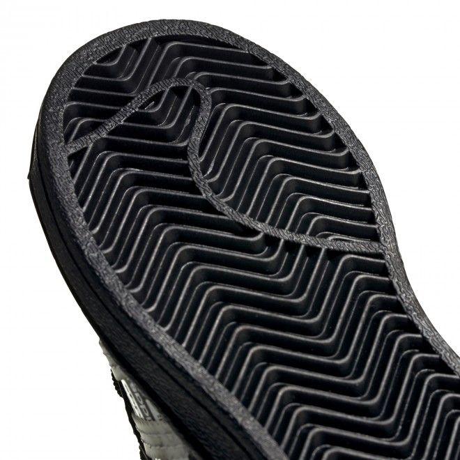 Sapatilhas Adidas Superstar El I Criança Preto Couro Fv3766