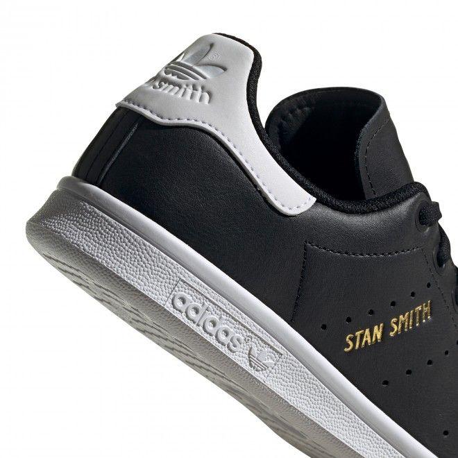 Sapatilhas Adidas Stan Smith J Unissexo Preto Pele Fv3612