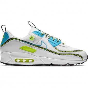 Sapatilhas Nike Air Max 90 Se Masculino Branco Pele Cz6419-100