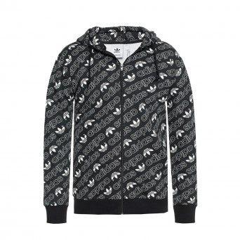 Casaco Adidas Originals Monogram Masculino Preto Algodão Dh4781