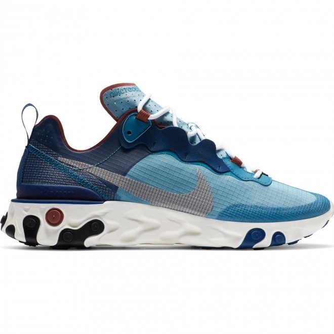 Sapatilhas Nike React Element 55 Retro Azul Tecido Unissexo CU1466-400