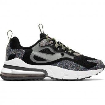 Sapatilhas Nike Air Max 270 React Feminino Preto Tecido
