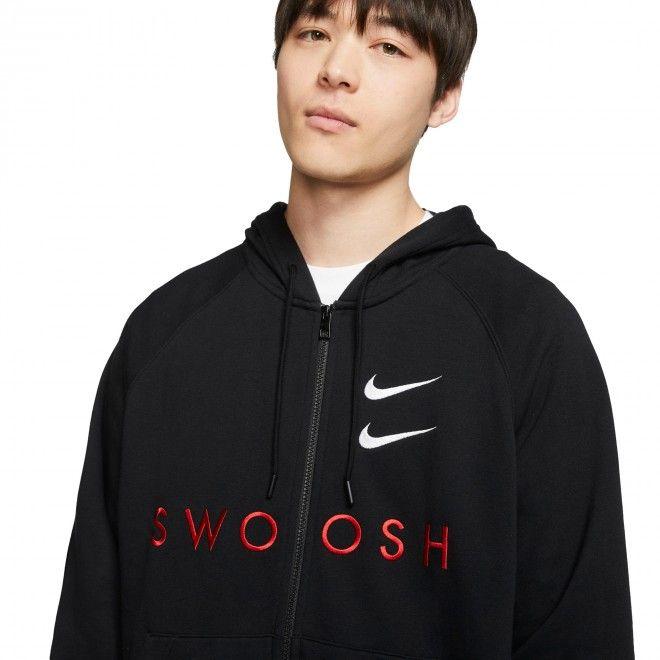 Casaco Nike Swoosh Algodão Preto Masculino CT7362-010