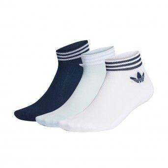 Meias Adidas Pelo Tornozelo Trevo – 3 Pares Gd3569