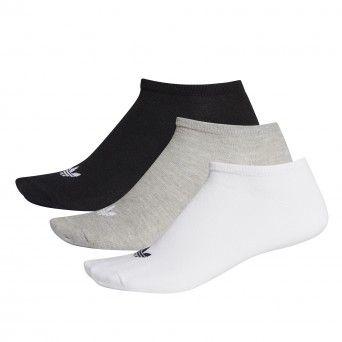 Soquetes Adidas Trefoil 3 Pares Multicolor Unisexo Algodão