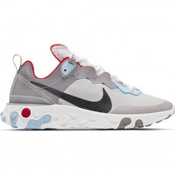 Sapatilhas Nike React Element 55 Unissexo Adulto Cinza Sintético CU1466-001