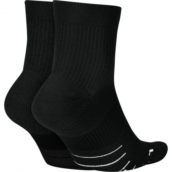 Meias Nike Multiplier Running Ankle Socks (2 Pares) Sx7556-010