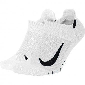 Meias Nike Multiplier Running No-Show Socks (2 Pares) Sx7554-100