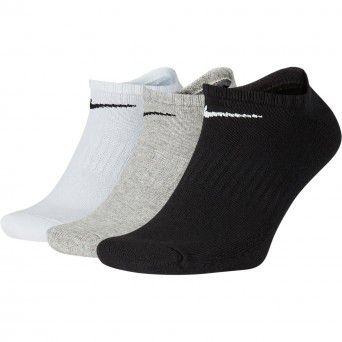 Meias Nike Everyday Cushioned Training No-Show Socks (3 Pares) Sx7673-901