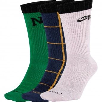 Nike Meias Sb Everyday Max Lightweight Skate Crew Socks (3 Pares) Cq9360-902