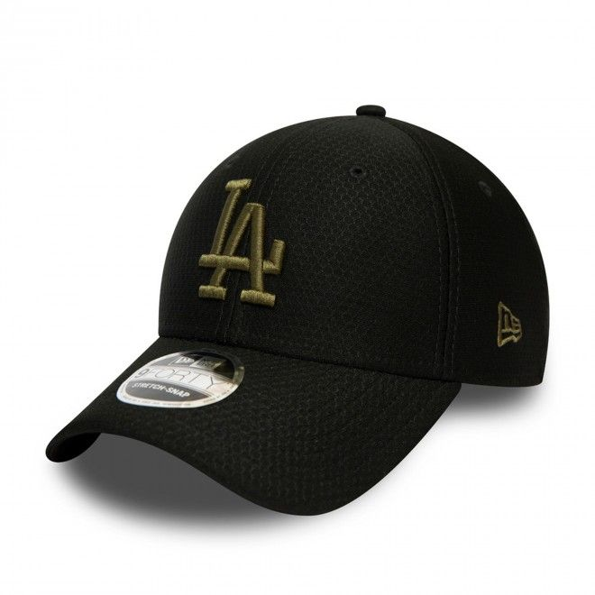 Boné New Era La Dodgers Tonal Black 9Forty Stretch Snap Cap 12489980