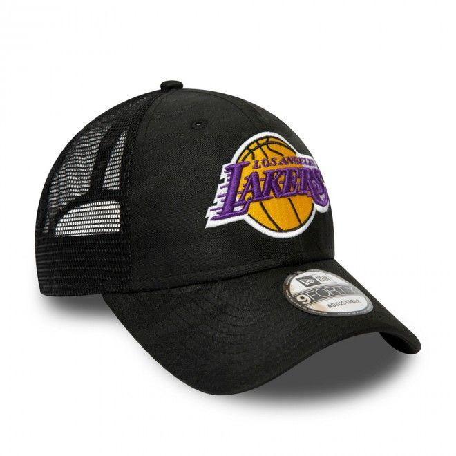 Boné New Era Los Angeles Lakers Seasonal The League Black Camo 9Forty Cap 12490016