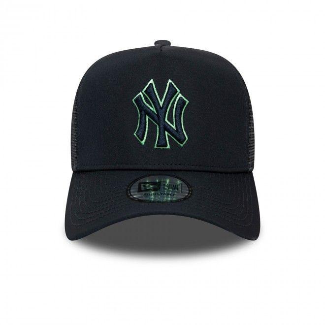 Boné New Era New York Yankees Highlight Logo A-Frame Trucker 12490030