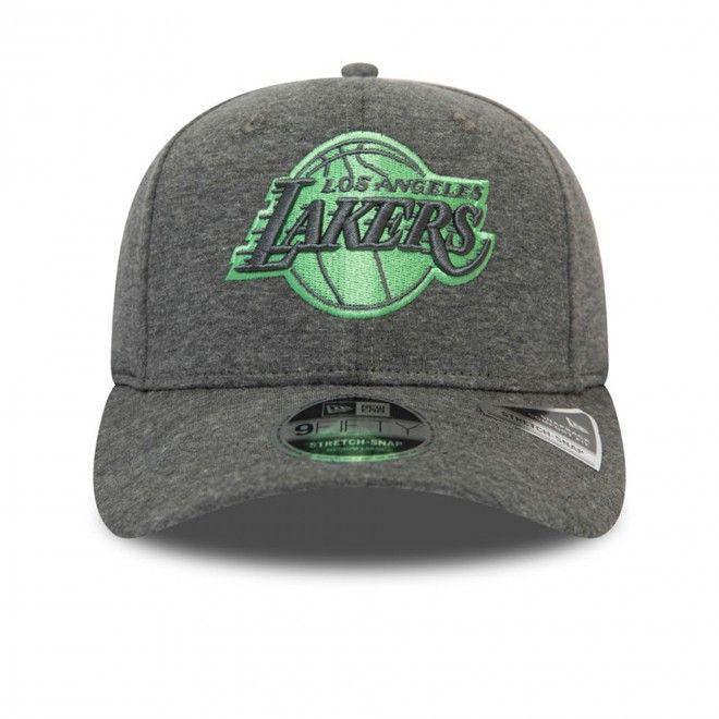 Boné New Era Los Angeles Lakers Jersey Grey Stretch Snap 9Fifty Cap 12490120E