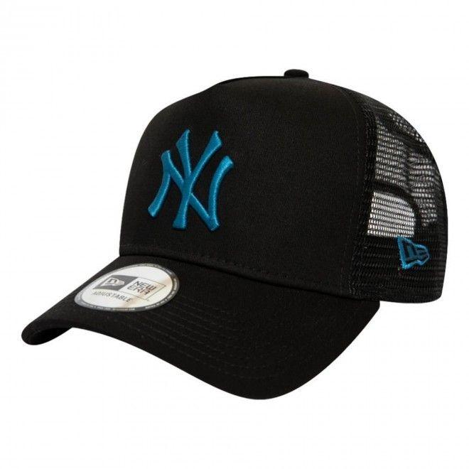 Boné New Era New York Yankees League Essential Black Trucker 12490150