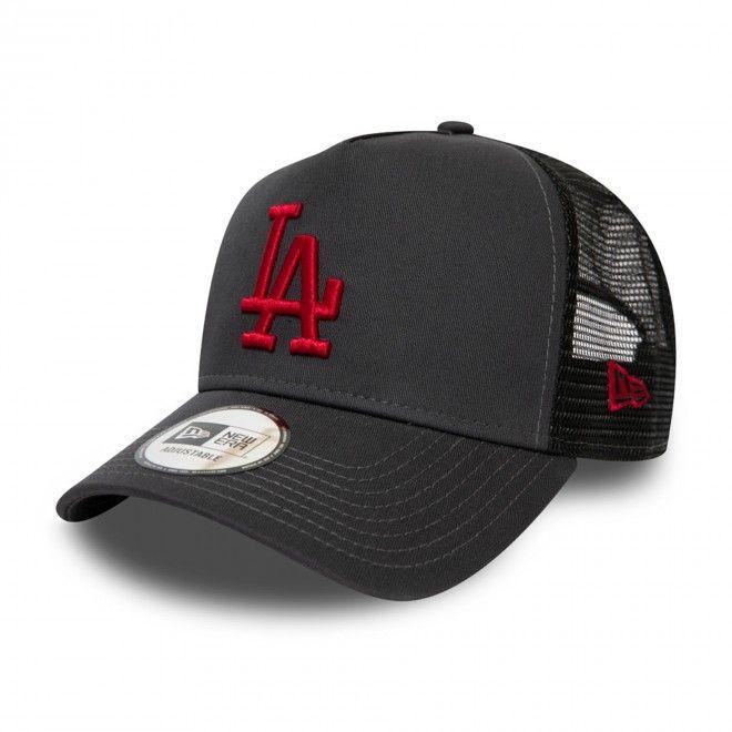 Boné New Era Los Angeles Dodgers League Essential Grey Trucker 12490195