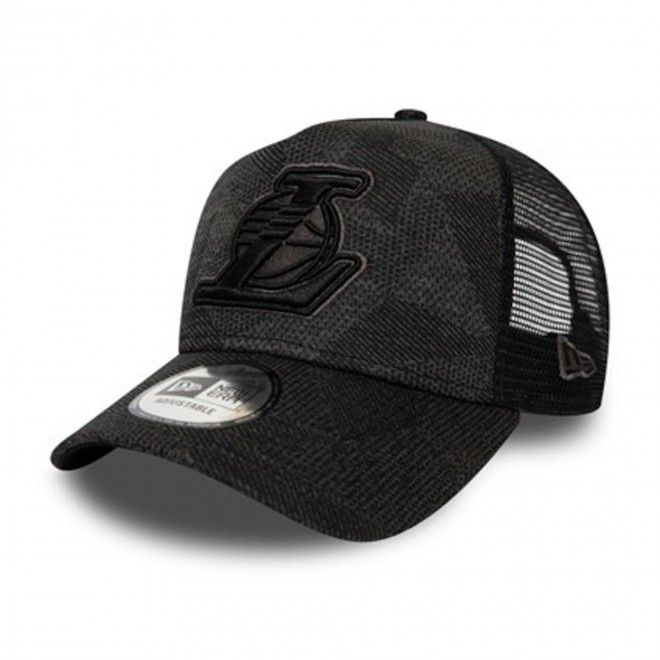 Boné New Era Los Angeles Lakers Engineered Fit Grey A-Frame Trucker 12490273