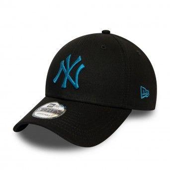 Boné New Era New York Yankees League Essential Blue Logo Black 9Forty Cap 12490478