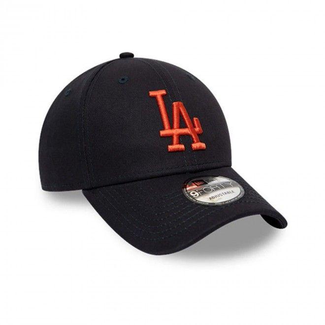 Boné New Era Los Angeles Dodgers League Essencial Kids Orange Logo Black 9Forty Cap 12514001