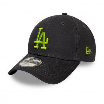 Boné New Era Los Angeles Dodgers League Essential Kids Green Logo Black 9Forty Cap 12514002
