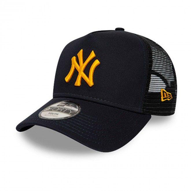 Boné New Era New York Yankees League Essential Kids Navy A-Frame Trucker 12514004