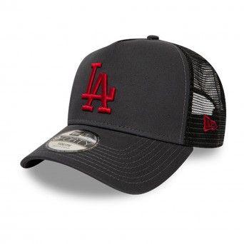Boné New Era Los Angeles Dodgers League Essential Kids Grey A-Frame Trucker 12514008