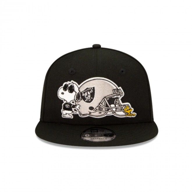 Boné New Era Las Vegas Raiders Nfl X Peanuts Black 9Fifty Snapback 12351592