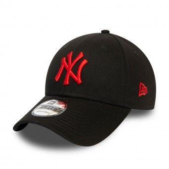 Boné New Era New York Yankees Essential Red Logo Black 9Forty Cap 12380594