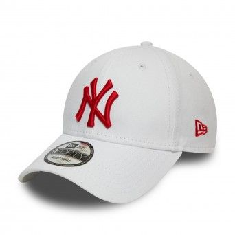 Boné New Era New York Yankees Essential Red Logo White 9Forty Cap 12380597