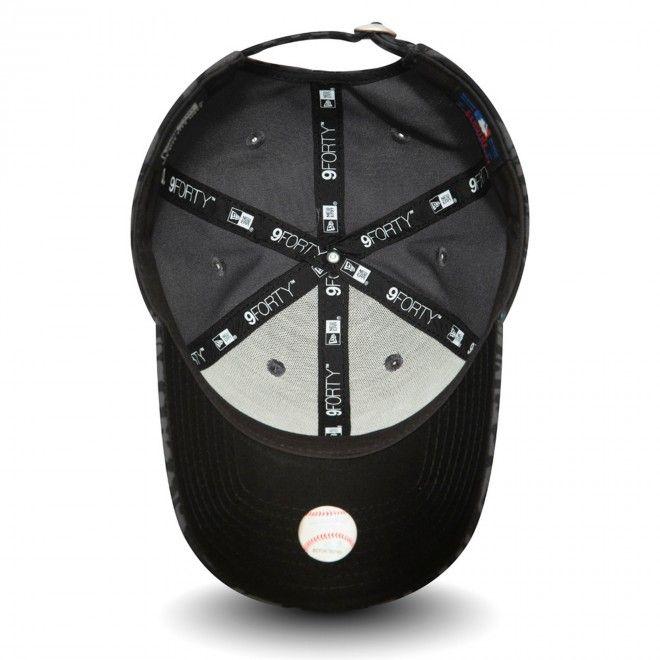 Boné New York Yankees Tonal All Over Print Womens Black 9Forty Cap 12380767