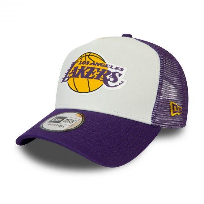 Boné New Era Los Angeles Lakers Team Colour Block White Trucker 12380799